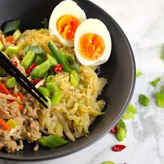 Keto Chicken Chow Mein Bowls.