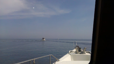 Photo: Entering the big bad Albermarle Sound led by The Zone and Sweet Pea. Perfect conditions, calm to lights puffs.