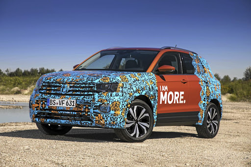 The camo gives little away this time but beneath is a less dramatic design than the T-Roc. Picture: VOLKSWAGEN