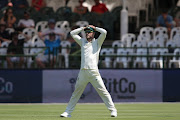 South African captain Faf du Plessis reacts to a close chance during day 3 of the 2nd Castle Lager Test match between South Africa and Pakistan at PPC Newlands on January 05, 2019 in Cape Town, South Africa.