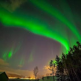 Tromsø by night by Geir Hammer - Landscapes Starscapes ( geir hammer )