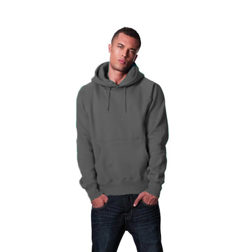 Mens Pullover Hooded Sweatshirt - Dark Heather