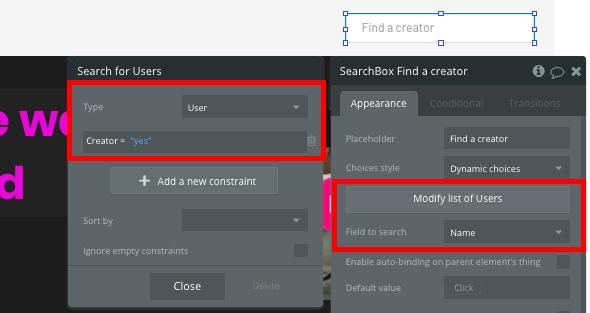 Bubble No Code Patreon Tutorial User Search