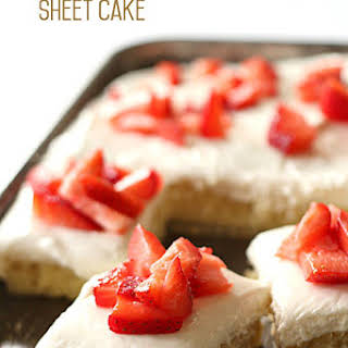 Strawberry Shortcake Sheet Cake.