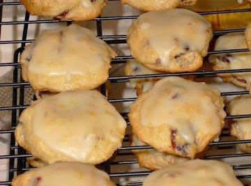 Cranberry Eggnog Cookies With Orange Dream Glaze Recipe