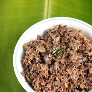 (Kerala style Stir fried banana blossom).