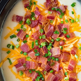 Slow Cooker Loaded Potato Soup.