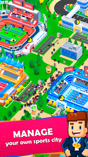 Idle Sports City Tycoon Game: Build a Sport Empire apkpoly screenshots 1
