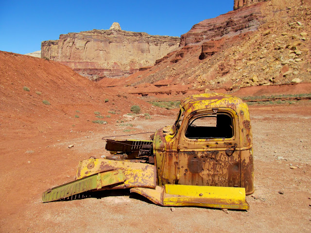 Truck cab at Tomsich Butte