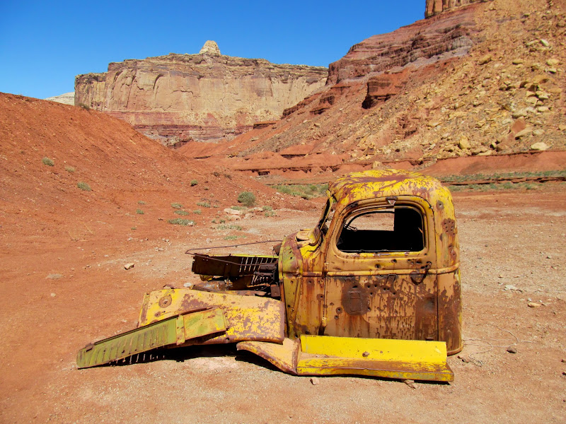 Photo: Truck cab at Tomsich Butte