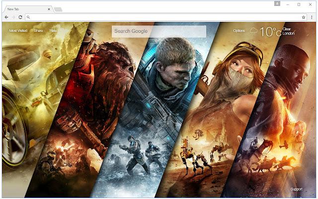 Gears of War 4 Wallpaper HD New Tab Themes