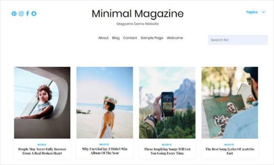 Minimal Magazine Free WordPress Theme