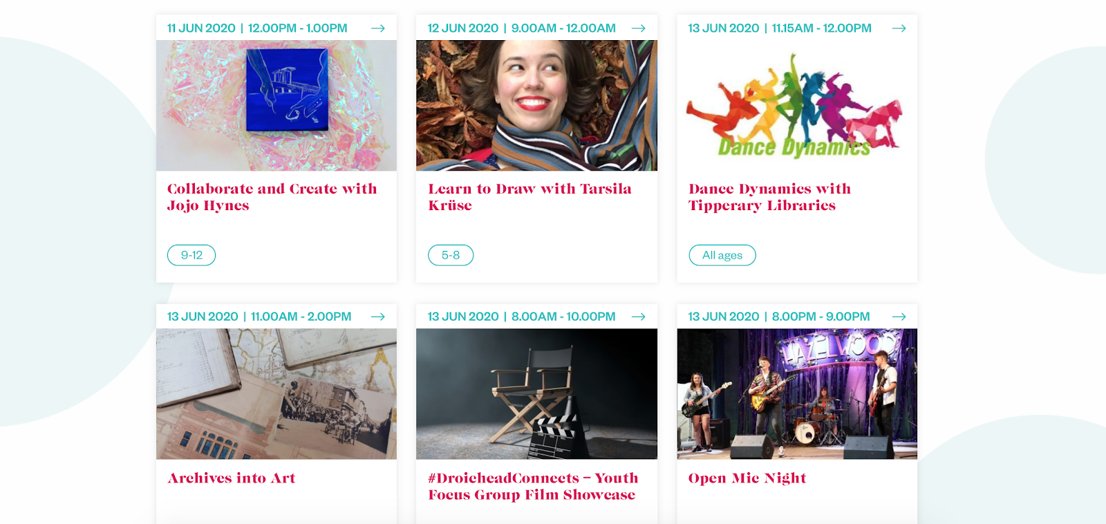 Link to Creative Ireland Event Listings