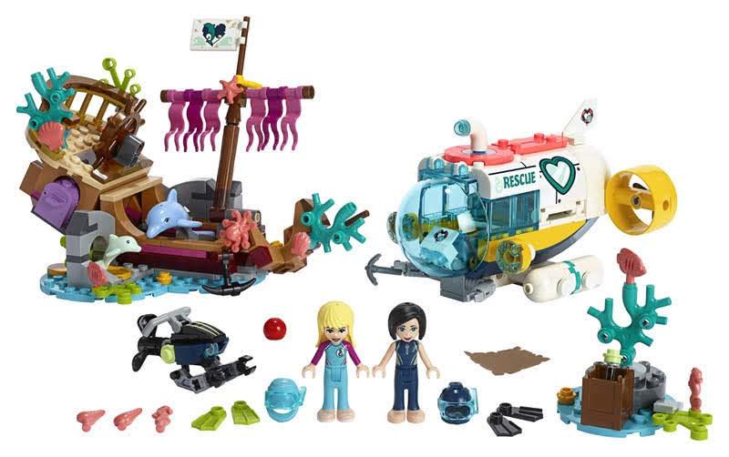Contenido de Lego® 41378 Misión de Rescate: Delfines