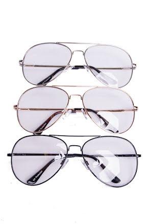 Pilotglasögon, Klarglas