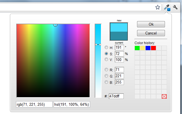 Advanced Eyedropper, Color Picker, Gradient Generator and other colorful goodies