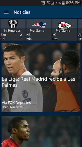 Fox Deportes Screenshot
