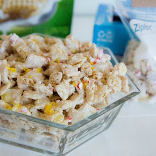 White Chocolate Lemon Peppermint Chex Party Mix {$50 Paypal Giveaway}