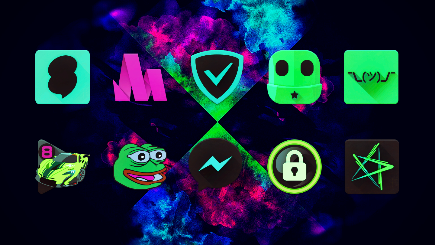 Black Light Icon Pack- screenshot