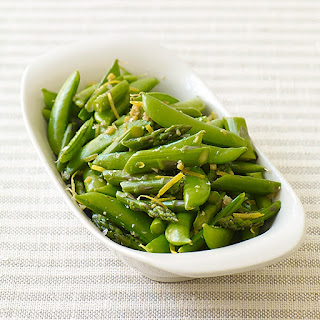 Stir-Fried Asparagus and Sugar Snap Peas Recipe