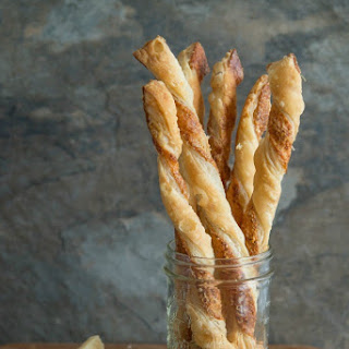 Cayenne Dusted Puff Pastry Straws