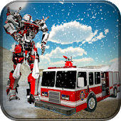 Fire Truck Robot Transformation Winter Snow Rescue