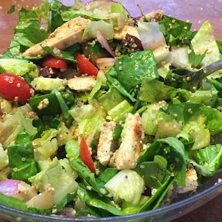 Greek Protein Salad with Grilled Chicken