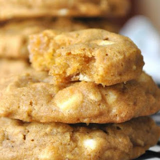 Chewy White Chocolate Pumpkin Oatmeal Cookies.