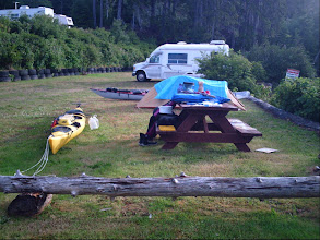 Photo: Alder Bay campground near the Nimpkish River on Vancouver Island.