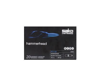 Sako 9,3x62 Hammerhead 18,5g/ 286gr