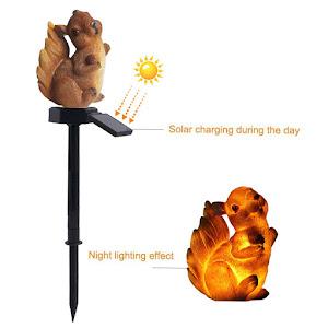 Lampa solara de gradina, decoratiune veverita