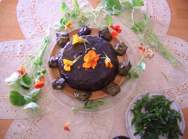 Stuffed Nasturtium Edible Flowers & Leaves Recipe