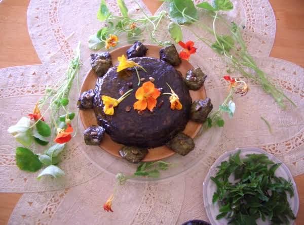 Stuffed Nasturtium Edible Flowers & Leaves
