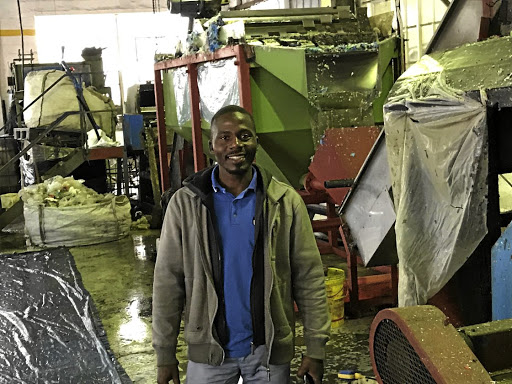 Siyabonga Shange of Sbumeister Plastics in his factory near Durban. Picture: USE-IT