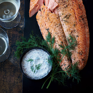 Whole Wild Salmon Fillet with Mustard Sauce Recipe