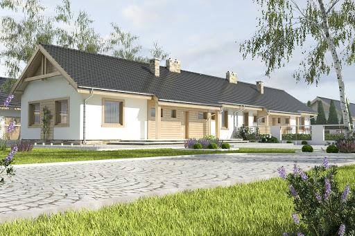 projekt Raniuszek bez garażu bliźniak B-BL1 na paliwo stałe