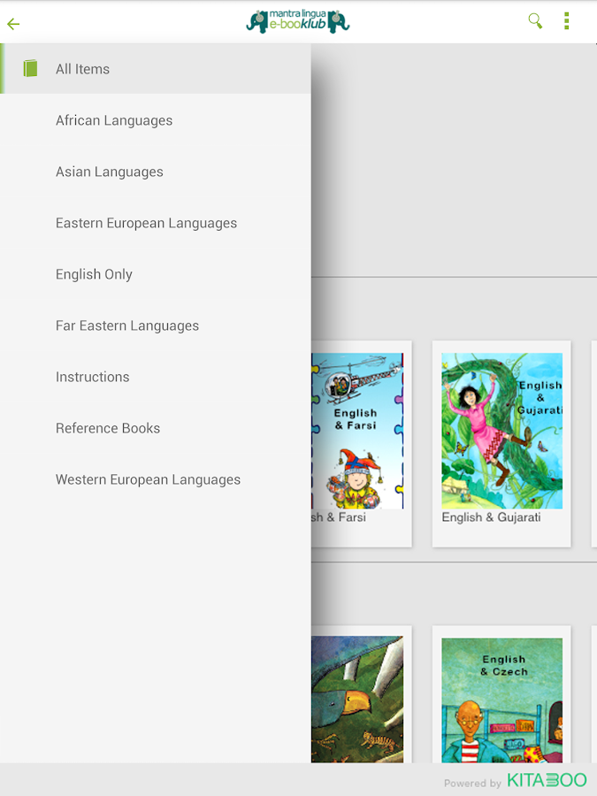 Mantra Lingua e-booklub Reader- screenshot
