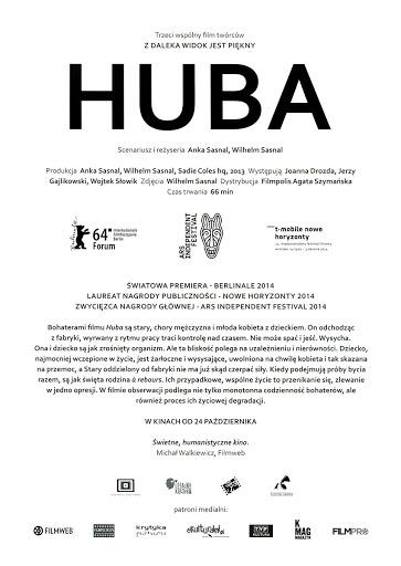 Tył ulotki filmu 'Huba'