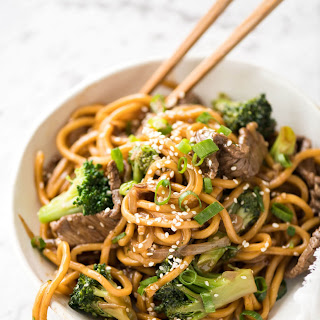 Chinese Beef and Broccoli Noodles.