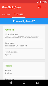 One Shot screen recorder v1.2.8