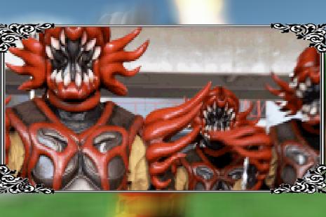 Power Hero Rangers Attacks Monster - náhled