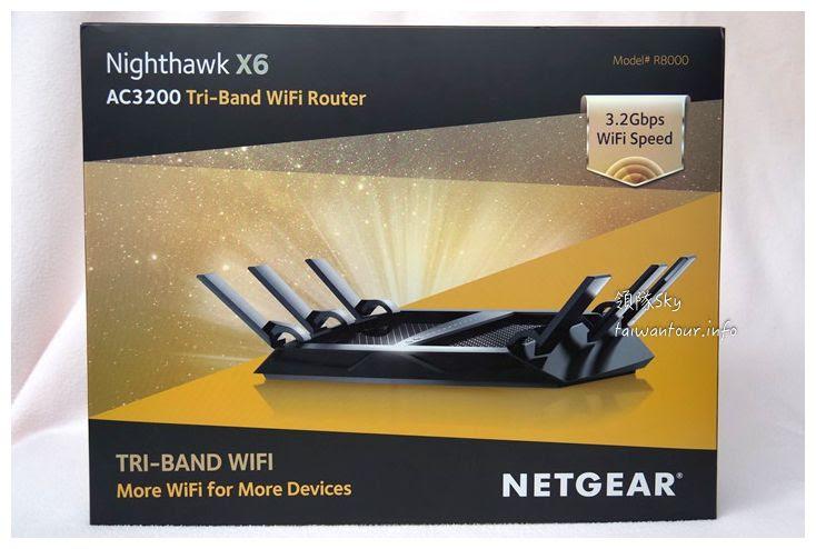 全球首款三頻無線路由器AC3200夜鷹【Nighthawk X6 R8000】智慧操作好方便!