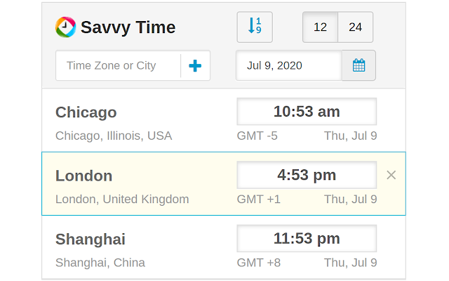 Time Zone Converter - Savvy Time