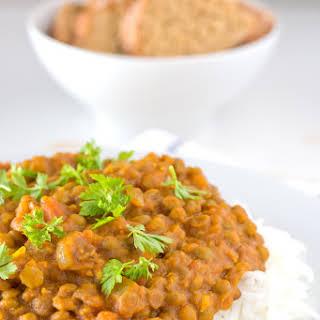 Vegan Lentil Curry.