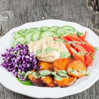 Hummus And Baked Sweet Potato Salad