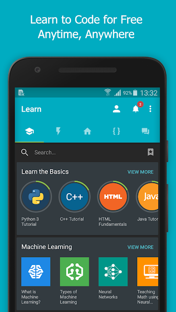 SoloLearn: Learn to Code for Free Android App Screenshot