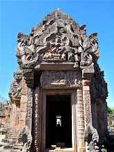 Photo: doorway to the main chapel of Prasat Hin Phanom Rung with the lintel of the Hindu creation myth