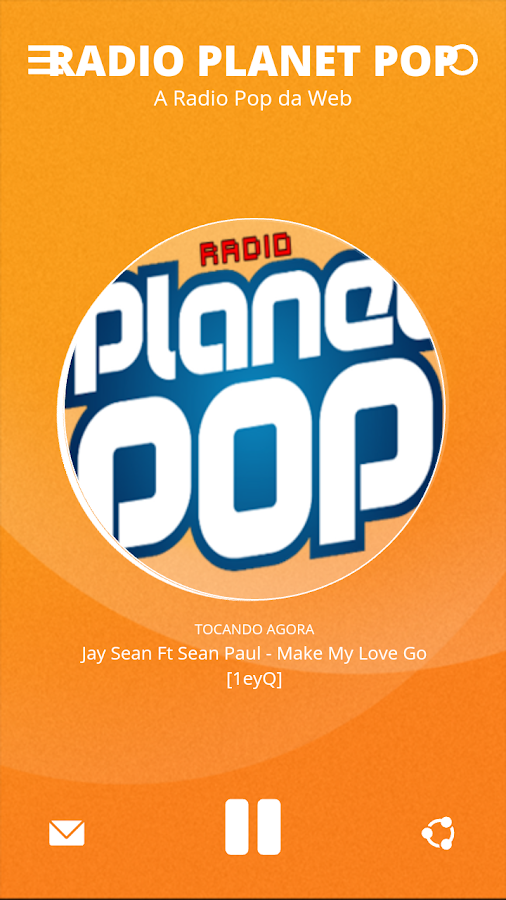 Radio Planet Pop: captura de tela