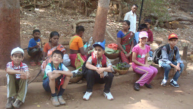 Photo: With the locals at Matheran...