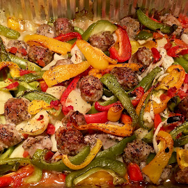 Sausage and peppers. by Peter DiMarco - Food & Drink Meats & Cheeses ( peppers, meat, sausage, italian, food )
